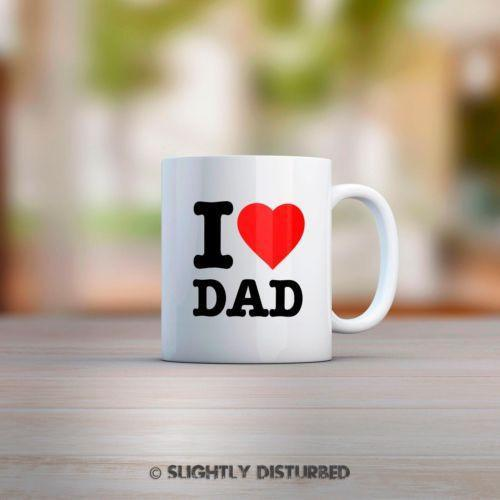 I Heart Dad Mug - Novelty Gifts - Slightly Disturbed