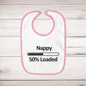 Nappy 50% Loaded Baby Bib