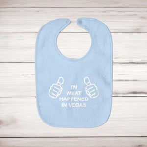 I'm What Happened In Vegas Baby Bib - Slightly Disturbed