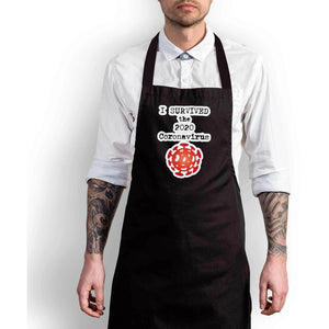 I Survived the 2020 Coronavirus Apron - Novelty Aprons - Slightly Disturbed