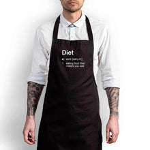 Load image into Gallery viewer, Diet - Eating Food That Makes You Sad Apron - Black, Chef