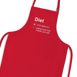 Diet - Eating Food That Makes You Sad Apron - Red