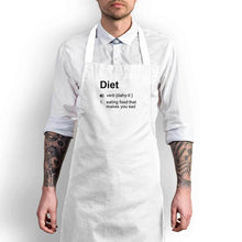 Load image into Gallery viewer, Diet - Eating Food That Makes You Sad Apron - White Chef
