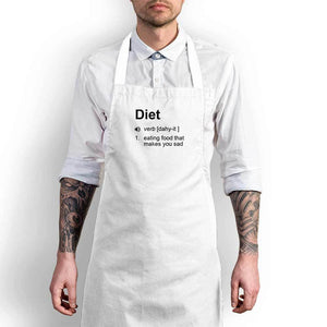 Diet - Eating Food That Makes You Sad Apron - White Chef