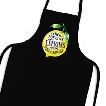 Load image into Gallery viewer, When Life Gives You Lemons Apron - Black - Novelty Aprons - Slightly Disturbed