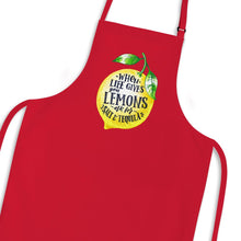 Load image into Gallery viewer, When Life Gives You Lemons Apron - Red - Novelty Aprons - Slightly Disturbed