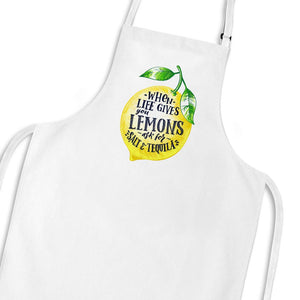 When Life Gives You Lemons Apron - White - Novelty Aprons - Slightly Disturbed