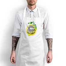 Load image into Gallery viewer, When Life Gives You Lemons Apron - White - Novelty Aprons - Slightly Disturbed