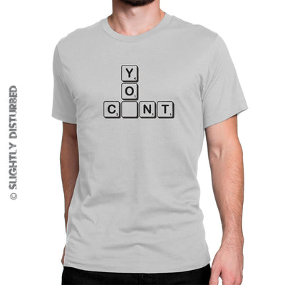 You C-nt Scrabble Tiles Men's T-Shirt - Slightly Disturbed
