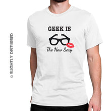 Load image into Gallery viewer, Geek Is The New Sexy Men's T-Shirt - Mens T-Shirts - Slightly Disturbed