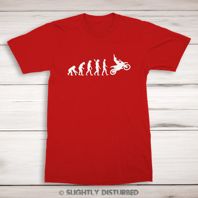 Evolution Of A Motocross Rider Men's T-Shirt - Slightly Disturbed
