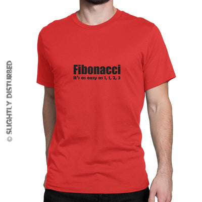 Fibonacci It's As Easy As 1, 1, 2, 3 Men's T-Shirt - Mens T-Shirts - Slightly Disturbed