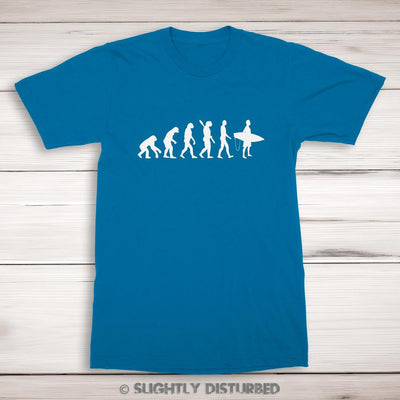 Evolution Of A Surfer Men's T-Shirt - Slightly Disturbed