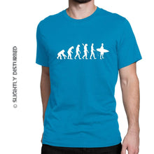 Load image into Gallery viewer, Evolution Of A Surfer Men's T-Shirt - Mens T-Shirts - Slightly Disturbed