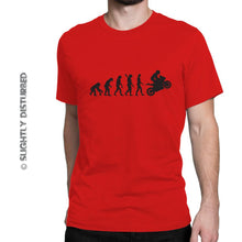 Load image into Gallery viewer, Evolution Of A Biker Men's T-Shirt - Mens T-Shirts - Slightly Disturbed
