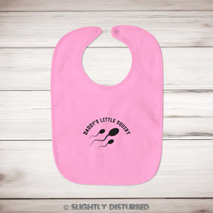 Daddy's Little Squirt Baby Bib - Bibs - Slightly Disturbed