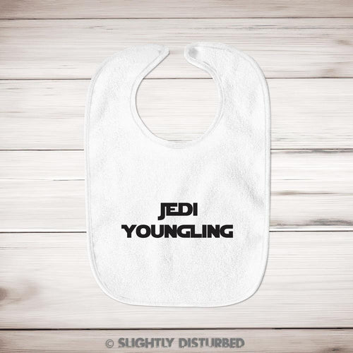 Jedi Youngling Baby Bib - Star Wars Bib - Slightly Disturbed