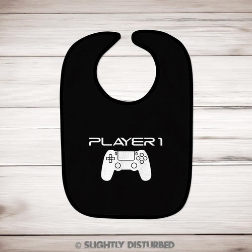 PS4 Player 1 Baby Bib