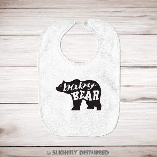 Baby Bear Baby Bib - Slightly Disturbed