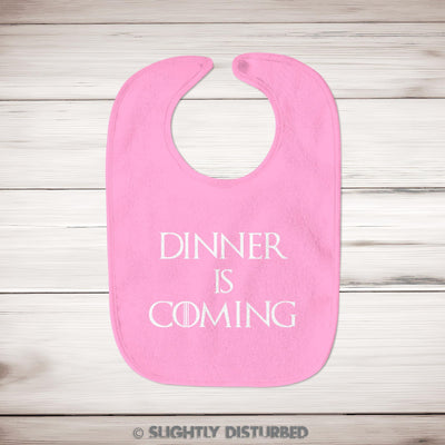 Dinner Is Coming Baby Bib - Slightly Disturbed