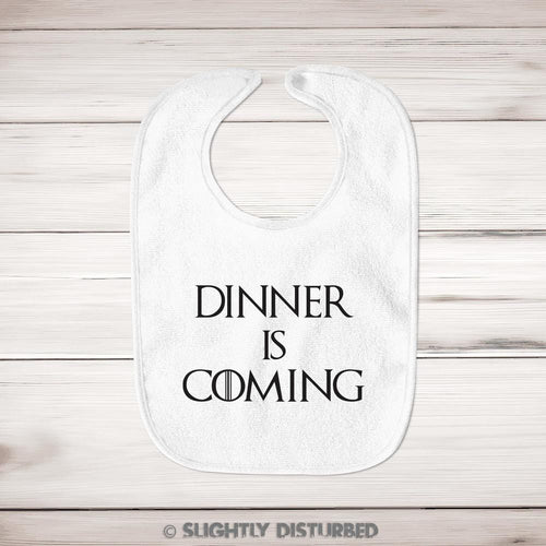 Dinner Is Coming Baby Bib - Bibs - Slightly Disturbed