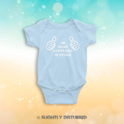 I'm What Happened In Vegas Babygrow - Novelty Babygrows - Slightly Disturbed