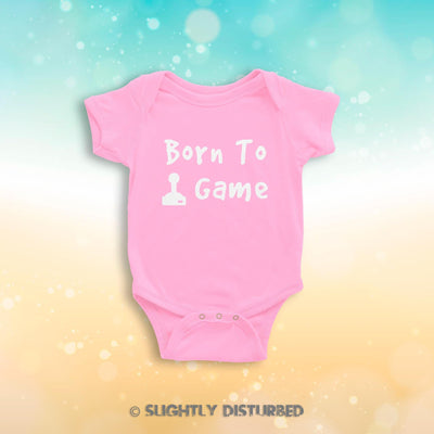 Born To Game Babygrow - Slightly Disturbed