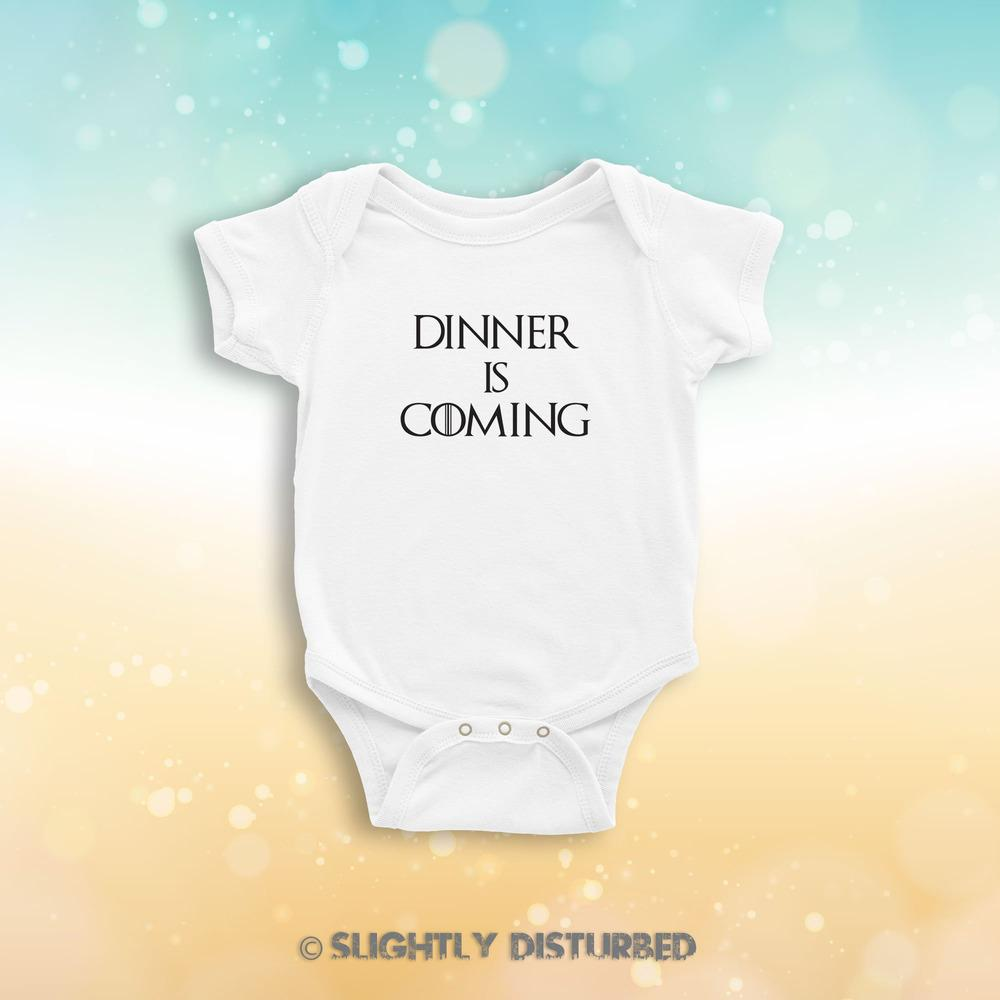 Dinner Is Coming Babygrow - Babygrows & Sleepsuits - Slightly Disturbed