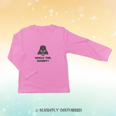 Who's The Daddy Baby Long Sleeve - Novelty Gifts - Slightly Disturbed