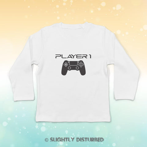 PS4 Player 1 Baby Long Sleeve T-Shirt - Slightly Disturbed
