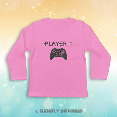 Xbox Player 1 Baby Long Sleeve T-Shirt - Slightly Disturbed