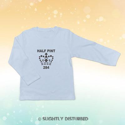 Half Pint Baby Long Sleeve T-Shirt - Slightly Disturbed