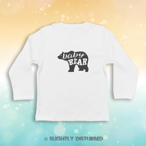 Baby Bear Baby Long Sleeve T-Shirt - Novelty Gift - Slightly Disturbed