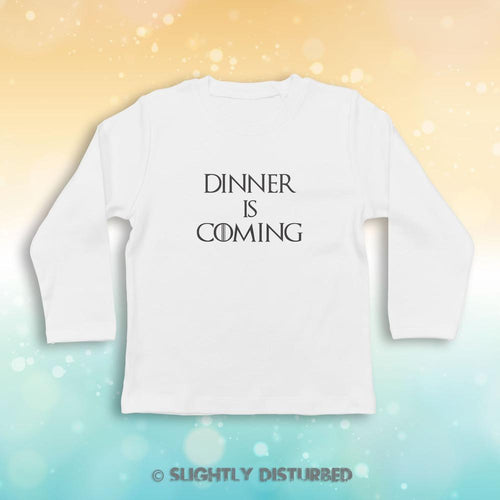 Dinner Is Coming Baby Long Sleeve T-Shirt - Baby T-shirts - Slightly Disturbed