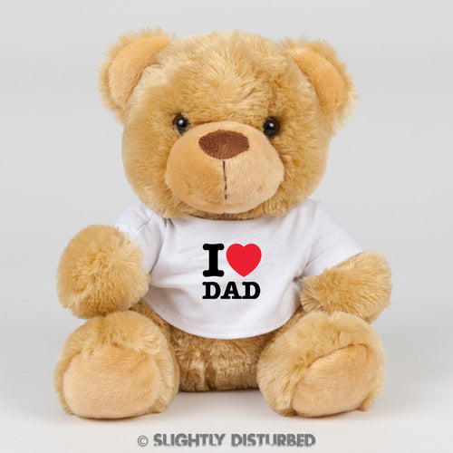 I Heart Dad Teddy Bear - Cuddly Toy - Slightly Disturbed