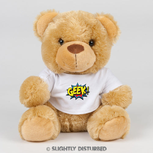 Geek! Teddy Bear - Slightly Disturbed