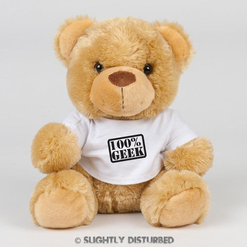 100% Geek Teddy Bear - Slightly Disturbed