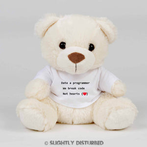 Date A Programmer Teddy Bear - Cuddly Toy - Slightly Disturbed