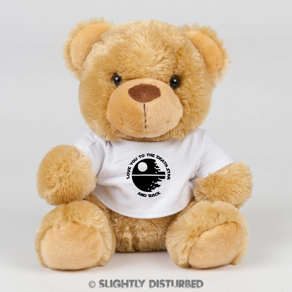 Love You To The Death Star And Back Teddy Bear - Slightly Disturbed