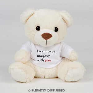 Naughty With You Teddy Bear - Cuddly Toy - Slightly Disturbed