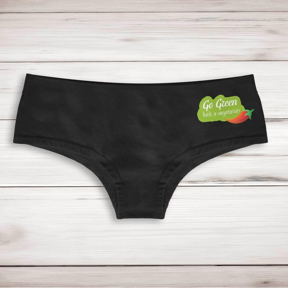 Go Green Fuck A Vegetarian Ladies Shortie - Slightly Disturbed