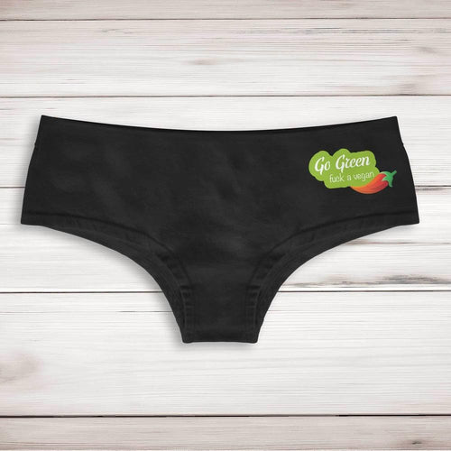 Go Green Fuck A Vegan Ladies Shortie - Slightly Disturbed