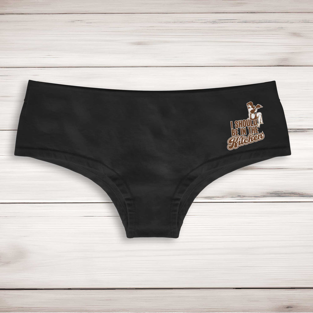 I Should Be In The Kitchen Ladies Shortie - Novelty Underwear - Black