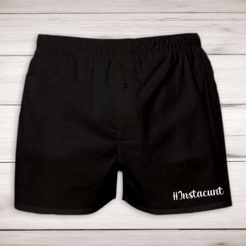 Instacunt Mens Boxers - Black - Rude Boxers - Slightly Disturbed