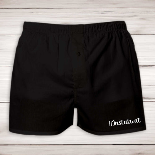 Instatwat Mens Boxers - Black - Rude Boxers - Slightly Disturbed