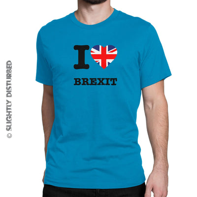 I Love Brexit Men's T-Shirt - Mens T-Shirts - Slightly Disturbed