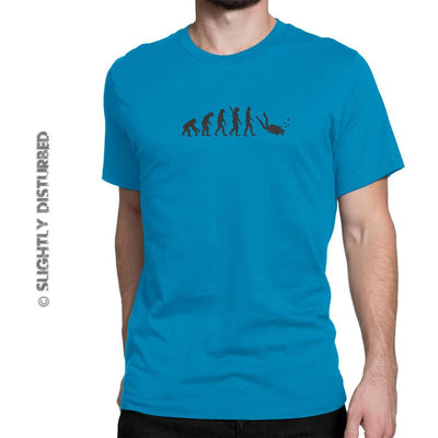 Evolution Of A Scuba Diver Men's T-Shirt - Mens T-Shirts - Slightly Disturbed