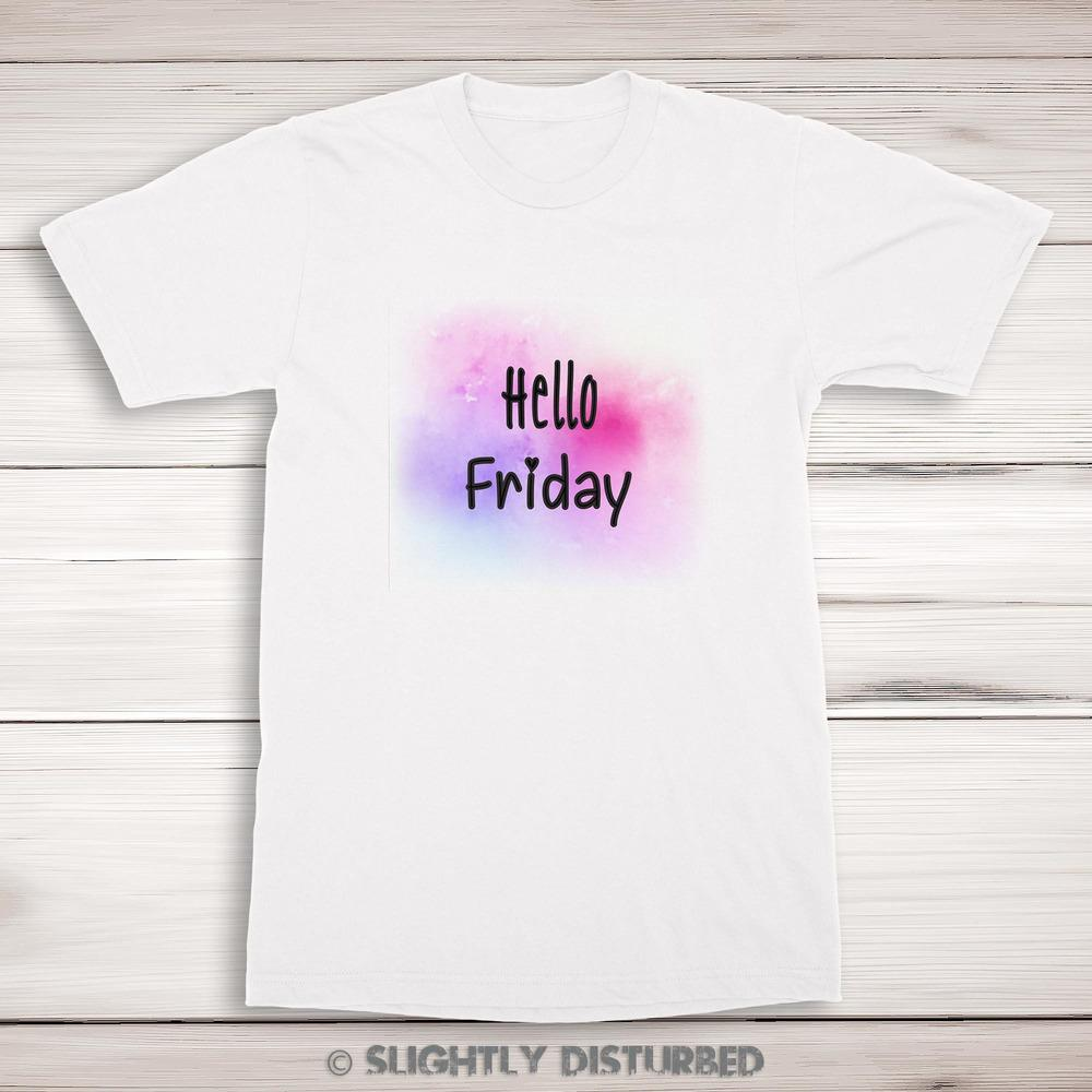 Hello Friday Men's T-Shirt - Mens T-Shirts - Slightly Disturbed