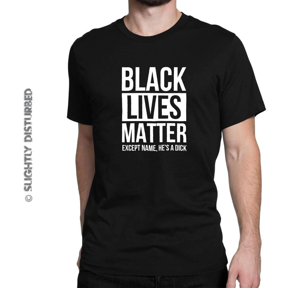 Personalised Black Lives Matter Men's T-Shirt