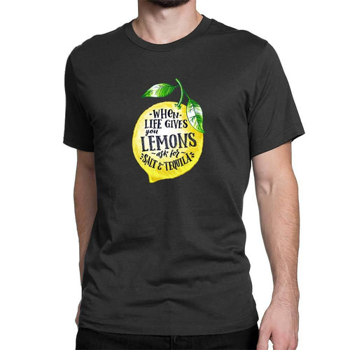 When Life Gives You Lemons Men's T-Shirt - Black - Novelty Tees - Slightly Disturbed
